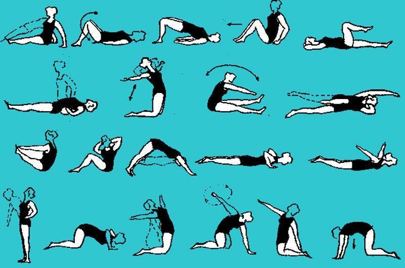 Упражнения при грыже поясничного отдела картинки